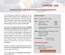 leaders-lab-event-image Event - Leader's Lab – Bridging Non-profit Organisations and Social Enterprises
