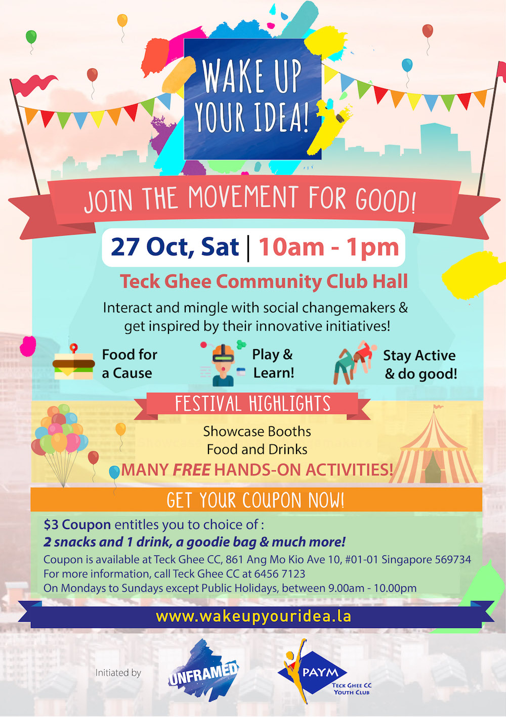 wake-up-your-idea-at-teck-ghee-cc-poster_0_65062400_1539941278 Event - Join the movement for good! Wake Up Your Idea! Festival