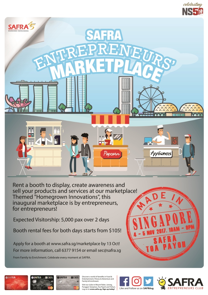SAFRA_Entrepreneurs_Marketplace Initiatives by raiSE